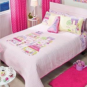 paris chic eiffel tower french teen girls reversible comforter set and sheet set 9. Black Bedroom Furniture Sets. Home Design Ideas
