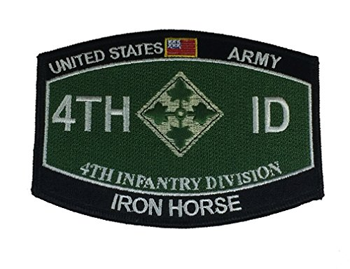 4th Id Patch (US ARMY 4TH INFANTRY DIVISION Patch - Vivid Colors - Veteran Owned)