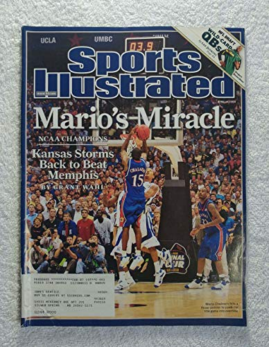 (Mario Chalmers - Kansas Jayhawks - 2008 National Champions! - Sports Illustrated - April 14, 2008 - Memphis Tigers - College Basketball -SI)