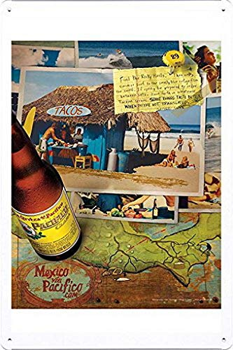 MarinaPolly Tin Sign Metal Poster Plate of Pacifico for sale  Delivered anywhere in USA