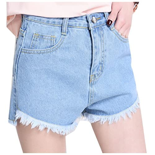 cbadd9a08fbc YUNY Womens Summer High Waist Pocket Burr Denim Shorts on sale ...