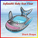 Shark Shape Baby Child Infant Kids Inflatable Swimming Pool Seat Float Ring Grey Toy