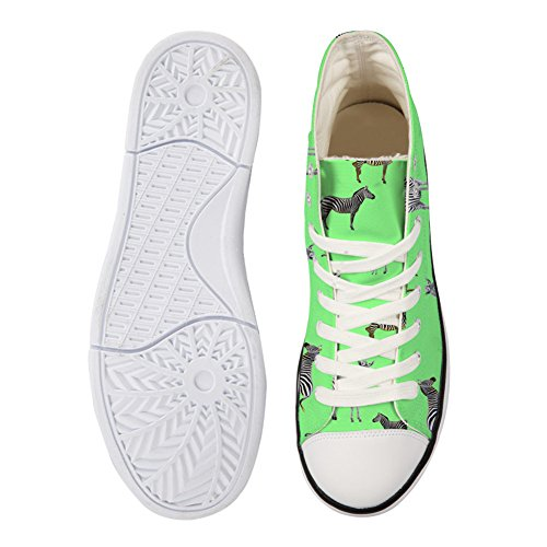 Para U Diseños High-cut Mujer Canvas Zapatos Temporada De Encaje Ups Cartoon Sneakers Casual Trainers Para Ladies Pattern-7