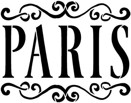 Amazon Com Paris Stencil By Studior12 Vintage Scrolls French Word