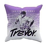 500 LEVEL Trevor Story Soft And Comfortable Throw Pillow For Colorado Baseball Fans - Trevor Story Splash P