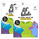 Lil' Labels Clothing, Write on Name, No Iron, Washer & Dryer Safe, Kids for Daycare & School, Plus 2 Bonus Gifts, Set Of 2