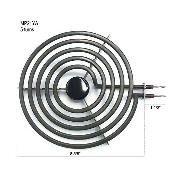 """Cooking Appliances MP22YA Electric Range Burner Element Unit Set 2- MP15YA 6.5"""" 2- MP21YA 8"""" 6"""