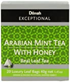 Dilmah Exceptional Leaf Tbag Arabian Mint With Honey, 1.41-Ounces Boxes (Pack of 6)