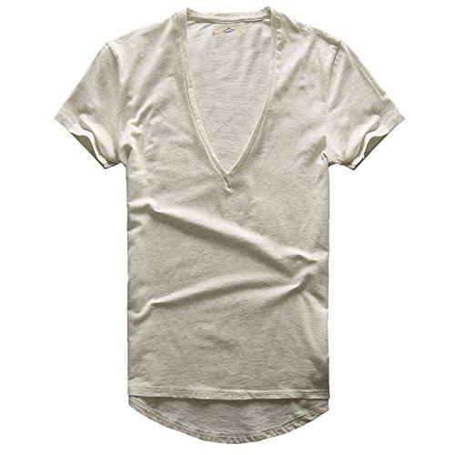 V-neck Deep Undershirt (Zecmos Mens Deep V Neck T-Shirt Unisex Tshirt Male Vneck Tee Top 2351Grey M)