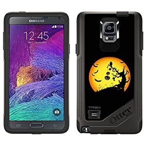 Skin Decal for OtterBox Commuter Samsung Galaxy Note 4 Case - Halloween Moon on Black