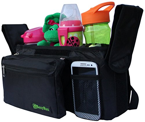 BexyRuz High Quality Universal Stroller Organizer That Fits Most Strollers With Baby Bottle Insulated Holders