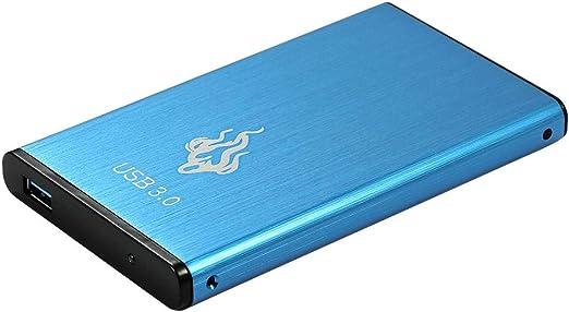 casualcatch ハードディスク 外付けHDD USB3.0 外付けハードディスク ポータブルHDD PS4/ Mac/PC/Xbox/テレビ対応 ブルー 500g