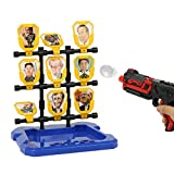 Shooting Toys, Speed Dial Squared Up Toy Target World Leaders Series Scratchable Latex Target Hydraulic Giant Shooting Game for Family Chilren
