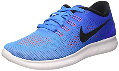 Nike Women's Wmns Free RN, BLUE GLOW/BLACK/RACER BLUE-BRIGHT CRIMSON, 5 M US