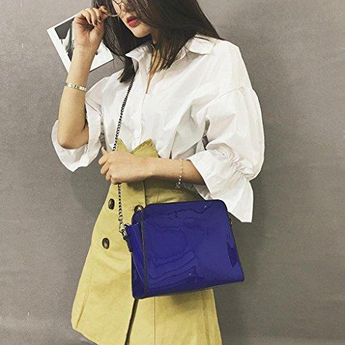 A En Verni Universels Cher Fashion Femmes Femme Vide Main Rangement Sac Sous Pas Bleu Argent Poubelles OHQ Bandoulieres Pour BandoulièRe Noir à Bleu Cuir Diagonal qO0gIx