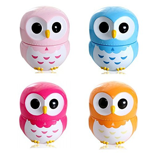 Orange Mechanical Kitchen Owl Timer, 60 Minute Timer Countdown for Cooking Baking Gifts