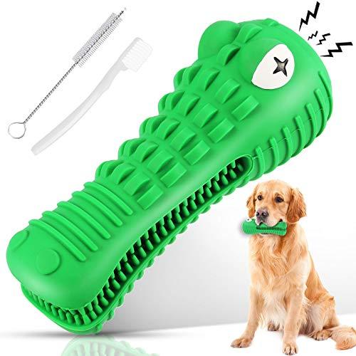 Ausbond Hundespielzeug Hunde Spielzeug Kauspielzeug Kaustab Mit 2 Reinigungsbürste Hundezahnbürste Für Zahnpflege…