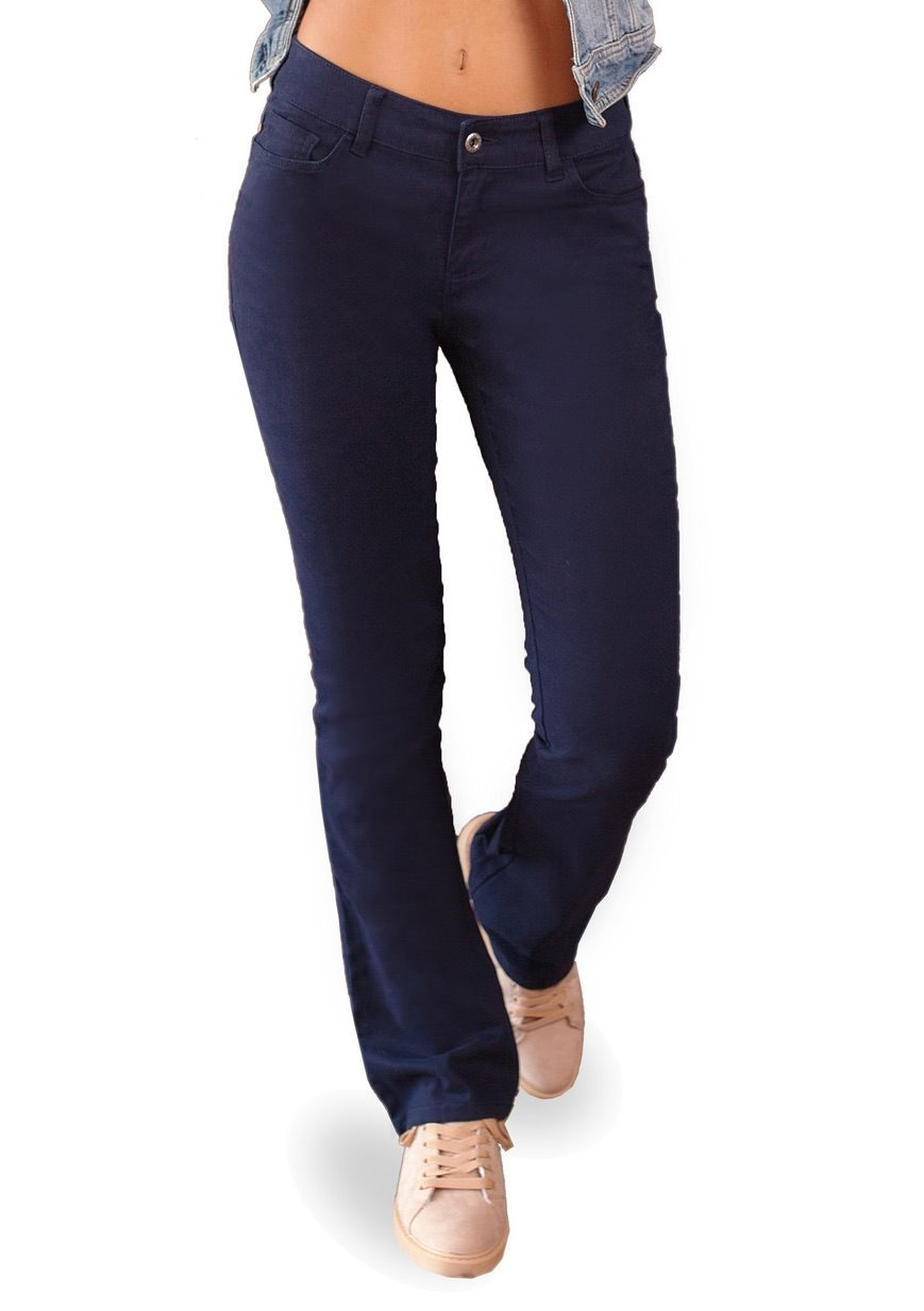 Bebop Women's Size 7, Navy, 5 Pocket Bootcut Stretch Cotton Twill Chino Pant by Be Bop (Image #2)