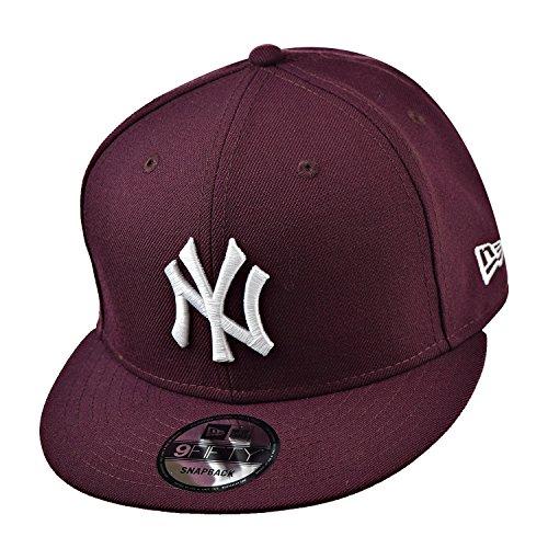 New Era New York Yankees 9Fifty Men's Snapback Hat Cap Burgundy/White 70241611 (Size OS) (Snapback Hats Era New)