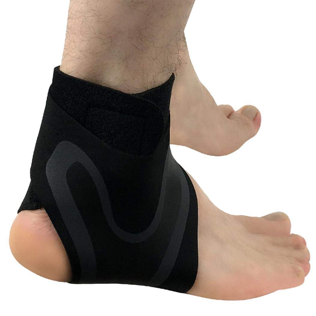 OD'lover Adjustable Ankle Foot Support Elastic Brace Guard for Football Basketball Ankle Braces