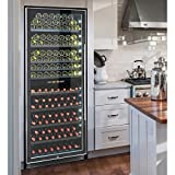 Vinotemp 300-Bottle Dual-Zone Wine Cooler VT-300-SS-2Z