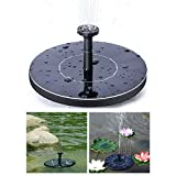 EOSAGA Solar Fountaion, Solar Powered Bird Bath Fountain Pump,Outdoor Watering Solar Fountain Kit for Pool,Garden,Fish tank, Pond