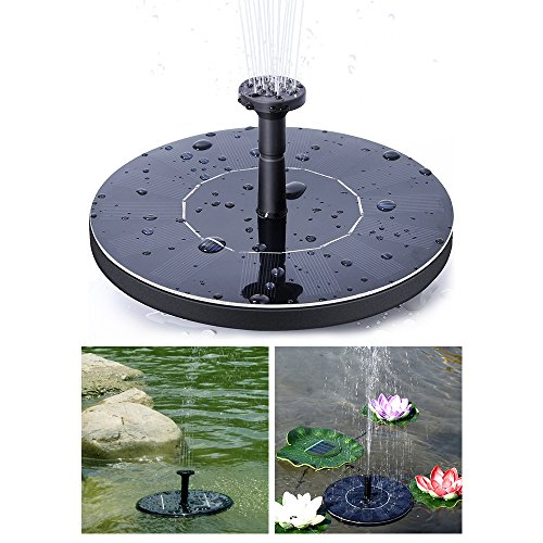 EOSAGA Solar Fountaion, Solar Powered Bird Bath Fountain Pump,Outdoor Watering Solar Fountain Kit for Pool,Garden,Fish tank, Pond by EOSAGA