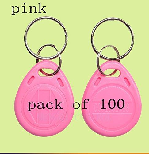 人気定番の 125KHz Chain Proximity Control EM4100 EM4102 RFID ID Card Tag Token ID Key Chain Keyfob Read Only(Color Pink 100pcs) for Access Control [並行輸入品] B077N5XWZ6, GreenLabel:26bd7b5d --- senas.4x4.lt