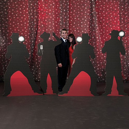 5 ft. 8 in. to 6 ft. Vintage Hollywood Movie Star Paparazzi Set Standup Photo Booth Prop Background Backdrop Party Decoration Decor Scene Setter Cardboard Cutout -