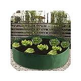 Bolsa de cultivo de fieltro verde para jardinería, flores de jardinería, extragrande, para plantar en la cama, para guardería, para cultivar macetas, 50 gallons, 50 gallons