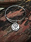 Hand Stamped I ♥ JAMMF adjustable bracelet - Outlander - FREE SHIPPING IN U.S.