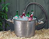 Vagabond House Stainless Long Horn Steer Ice Tub/Punchbowl 16'' Wide x 12'' Tall