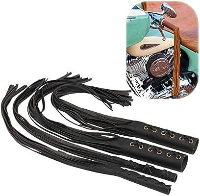 Universal Motorcycle Handlebar Tassel Fringe Grips Cover Levers For Harley Retro