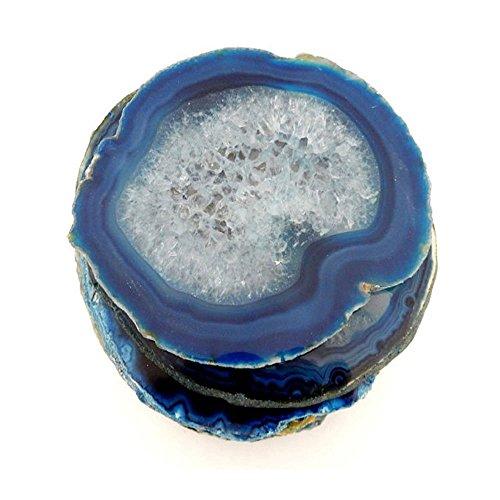 6 (SIX) Agate Coaster - Blue Colored Agate Coasters Rock Paradise COA (AM10B2)