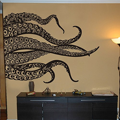 Cheap  MairGwall Kraken Octopus Decal Fashion Tentacles Wall Decal Ocean Animal Wall Sticker..