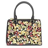 Prada Women's Garden Saffiano Handbag Black + Multicolor