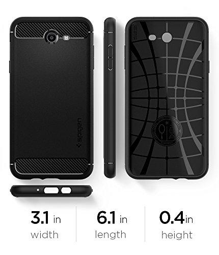 Spigen Rugged Armor Galaxy J7 2017 Case, J7 Prime, J7 2017(AT&T), J7 Sky Pro, J7 Perx case with Resilient Shock Absorption and Carbon Fiber Design for Samsung Galaxy J7 V 2017 - Black by Spigen (Image #9)