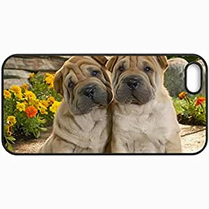 Customized Cellphone Case Back Cover For iPhone 6 plus, Protective Hardshell Case Personalized Lovely Sharpeis Black
