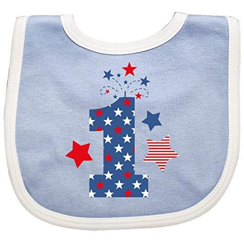 Inktastic - Firecracker 1st Birthday Baby Bib Blue/White 35b42
