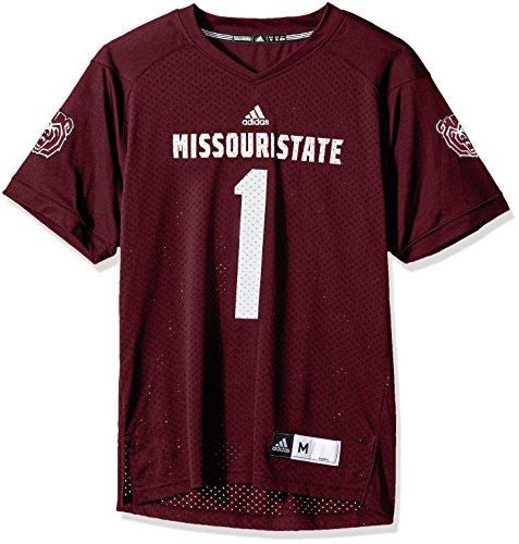 adidas NCAA Missouri State Bears Adult Men NCAA Replica Football Jersey, X-Large, Maroon