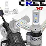 TURBO SII H7 LED headlight bulb H7 Headlight Conversion Kit 72W 12000LM 6500K Headlights for Cadillac Chevrolet Chrysler Dodge Ford Nissan Suzuki Toyota
