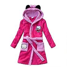2017 new kitten pattern children bathrobe girl Nightgown robe