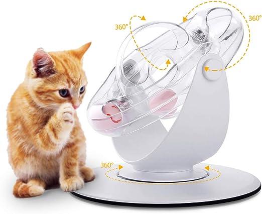 SAMMIU - Juguete Interactivo para Gatos, 360 Grados, con Pelota ...
