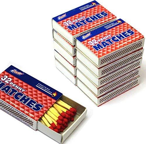 Wooden Kitchen Matches, Strike On Box, 32 Matches Per Box (10 Count) ()