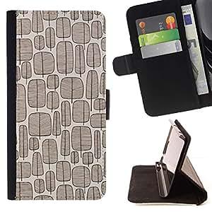For Motorola Moto E ( 1st Generation ) Case , Patrón del árbol de la vendimia del papel pintado de Brown- la tarjeta de Crédito Slots PU Funda de cuero Monedero caso cubierta de piel