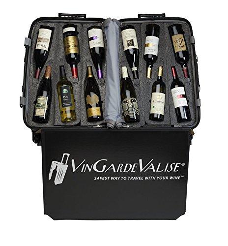 VinGardeValise Wine Travel Suitcase (12 Bottle) Newest Model (One Size, Silver) by Vin Garde Valise (Image #8)'
