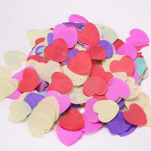 Hot 1000/pcs biod/égradable Rainbow C/œur papier Confettis f/ête de mariage d/écoratifs Hwangli