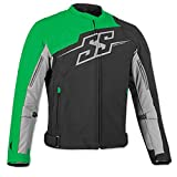 Speed and Strength Men's Hammer Down Black/Green Textile Jacket, 2XL