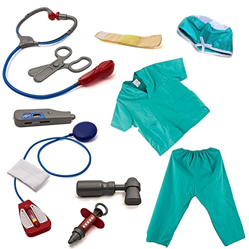 Kids Halloween Costume Set and Surgeon Accessories Doctor Costume Cosplay Dress up