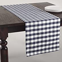 Amazon Com Navy Gingham Table Runner